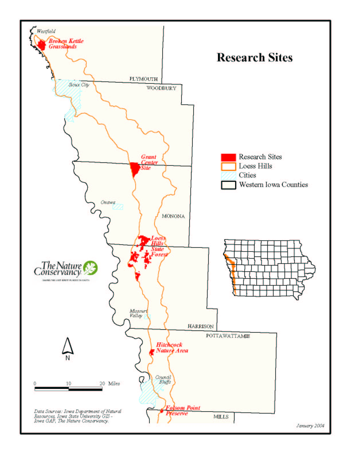Map of Research Sites