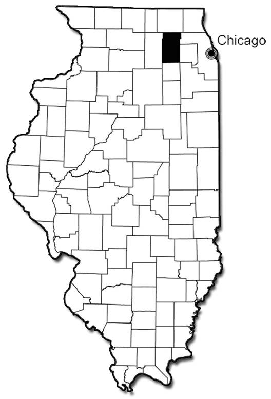 Location of Kane County Forest Preserve